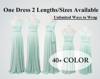 Mint Bridesmaid Dress long bridesmaid dress short infinity dress convertible bridesmaid dress evening dress Green dress