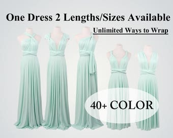 Mint Bridesmaid Dress long bridesmaid dress short infinity dress convertible bridesmaid dress evening dress Gift for bridesmaid gift ideas