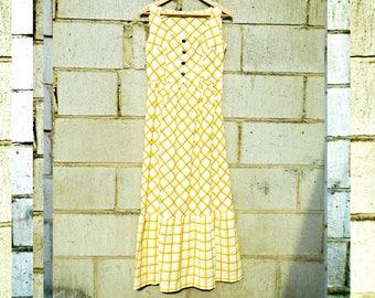 Vintage Dress - Maxi Dress - Sleeveless Dress - Summer Dress - Festival Dress