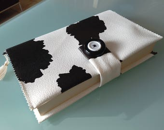 Protects book coated black cowhide hand made
