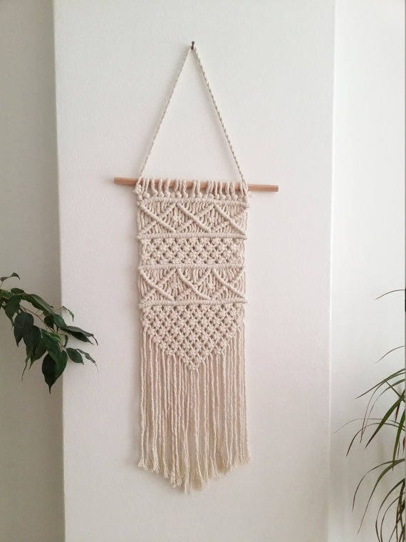 Macrame wall hanging wall decor macrame wall hanging woven - Wall hanging ideas for bedrooms ...