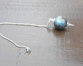 Labradorite Ball Pendulum