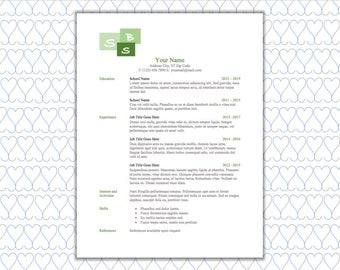 ms word resume etsy
