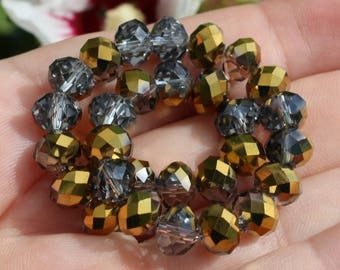 5 faceted swarovski rondelle Crystal beads. 8 X 7 MM.