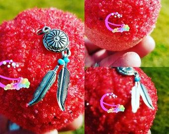 Feather Charm Bath Bomb - Pendant Bath Bomb - Bath Bomb Jewels - Bath Bombs - Bath Bomb Jewelry - Gifts for Her - Bath Bomb - Huge Bath Bomb