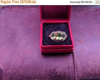 ON SALE Vintage Gold and Peridot Ring
