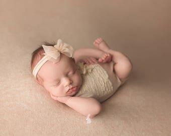 Kinsley Backdrop, Newborn Photo Prop, Newborn Posing Fabric, Newborn Photography Backdrop, Newborn Fabric Backdrop, Peach/Beige Backdrop