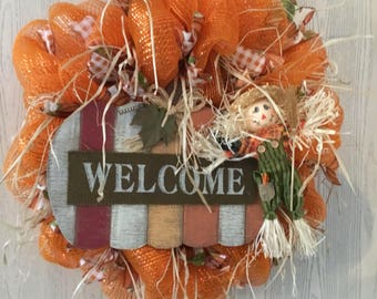 "Fall ""Welcome"" Wreath"