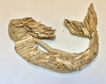 Handmade Driftwood Wall Art Mermaid Wall Art: Beach Decor, Driftwood Decor,  Beach Wall