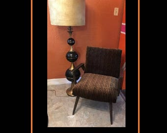 "Vintage Mid-Century Modern Hollywood Regency Glam All Metal Floor Lamp 56"" tall (shade not included)"
