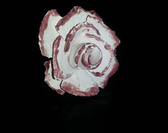 Ceramic rose sculpture