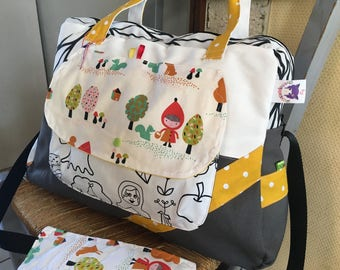 Large diaper bag, bag weekend personalized * on order - fabric choices *.