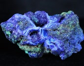 Colorful Bright Azurite Crystals & Malachite On Matrix Rough Mineral Specimen healing 1.9 Ounces Healing Free Shipping