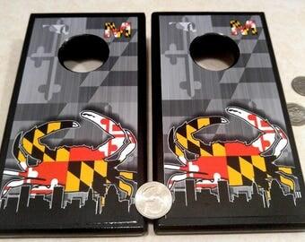 mini cornhole boards, table top, quarter boards