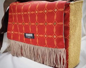 Reversible Durable Messenger Bag with fringe