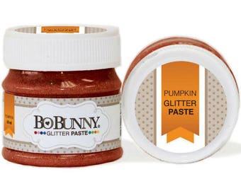 Bo Bunny Pumpkin Glitter Paste - Pumpkin Glitter Paste - Crafting Glitter Paste - Stencil Glitter Paste - Bo Bunny Paste - Pumpkin - 4-043