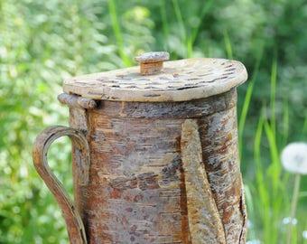 Birch Bark Vessel - Naver Made in Finland. Handmade Woodland beauty. Folk art.