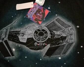 1996 New XL vintage star wars shirt, Darth Vader,NWT, NEW, starwars 90s shirt tee, tie fighter x wing