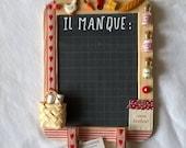Ardoise décorée cuisine pour noter les courses thème campagne