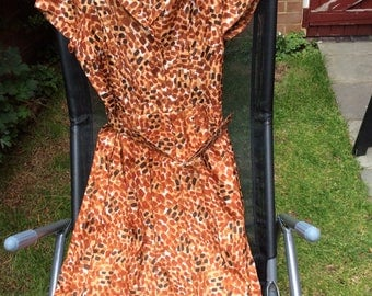 Late 1950's Early 1960's Leopard Print Dress