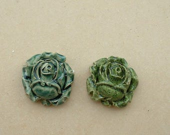 Roses 2cm ceramic glazed for your creations