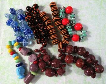 1 Handmade Lampwork Glass Bead Set (B417a1-8)