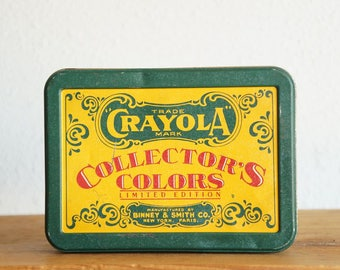 Vintage 1991 Crayola Collector's Colors Limited Edition Collectible Metal Tin