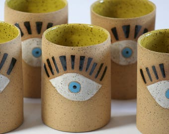 speckled stoneware eye cup