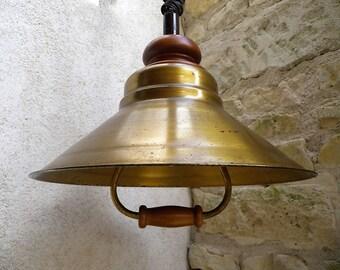 Raw brass pendant-