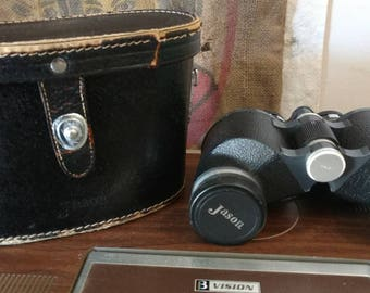 Vintage Jason binoculars 7 × 35 Extra WIDE Angle 11'. Field 578 ft at 1000 yds. Triple coated lenses