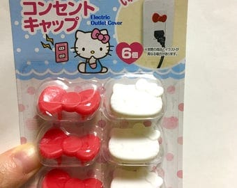 Hello Kitty electric outlet cover, kawaii