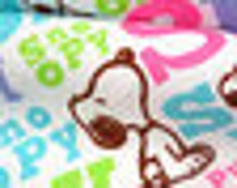 Snoopy jersey knit, 100% cotton, 68 wide, peanuts fabric, knit fabric, cotton jersey knit, snoopy fabric, licensed fabric, comic fabric
