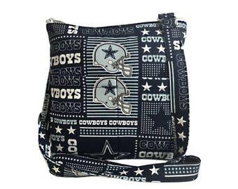 20% OFF SALE Dallas Cowboys Crossbody Bag // Sling Bag // Crossbody Purse // Shoulder Bag // Hipster // NFL
