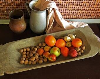 Antique Dough Bowl Primitive Wood Bowl Hand Carved Rustic Bowl Farmhouse Decor Rustic Bowl Barn Finds