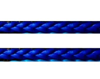 Woven Navy blue leather 50 cm