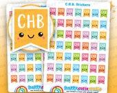 49 Cute C.H.B. Flags/Child Benefit/Planner Stickers, Filofax, Happy Planner, Erin Condren, Kawaii, Cute Sticker, UK