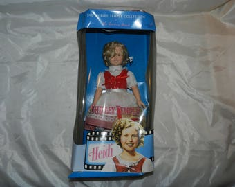 Danbury Mint Shirley Temple doll dressed as Heidi - Never removed from box - NRFB - copyright 1937 - 1996 by Twentieth Century Fox     59-01