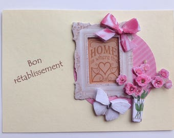 Bouquet of flowers - get well card