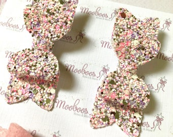 Girls pink hair clip set