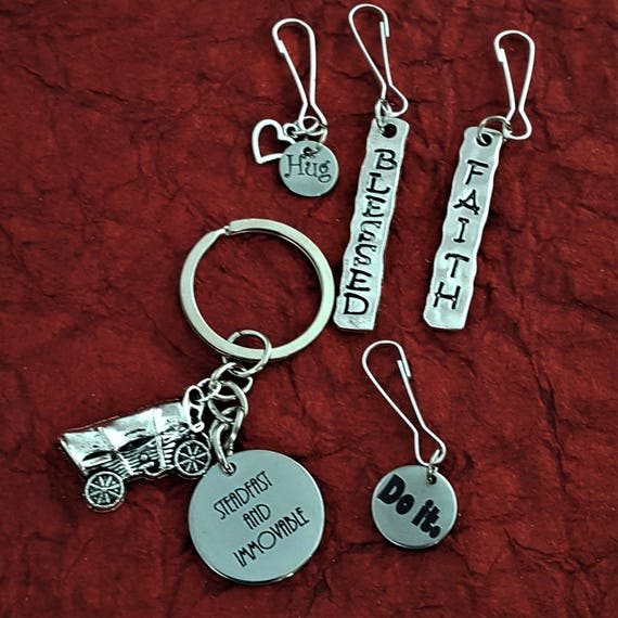 LDS Missionary Bookmarks Key Rings Zipper Pulls, Gifts for LDS Missionaries Primary Young Women, Girls Camp Theme Youth Conference Seminary