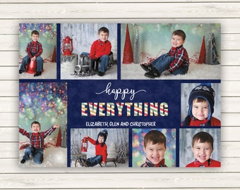 Photo Christmas Cards, Printed Photo Christmas Cards, Multiple Photo Christmas Cards, Holiday Photo Cards, Picture Cards, Happy Everything