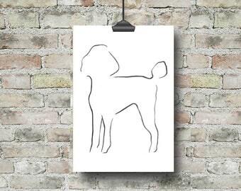 Poodle Art, Poodle Picture, Poodle Print, Dog Print, Gifts for Dog Lovers, Dog Art, Dog Wall Art, Animal Lover Presents