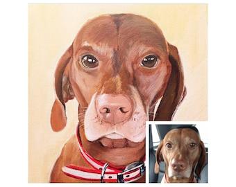 Dog Portrait, Custom Pet Portrait, Dog Lover Gift, Custom Pet Painting, Pet Canvas Art, Dog Art, Pet Loss Gift