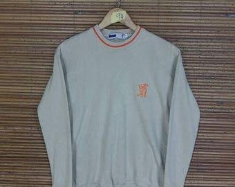 FILA Sweater Medium Fila Italia Sportswear Fila Vintage 90's Gray Fila Sport Activewear Jumper Pullover Crewneck Sweatshirt Size M