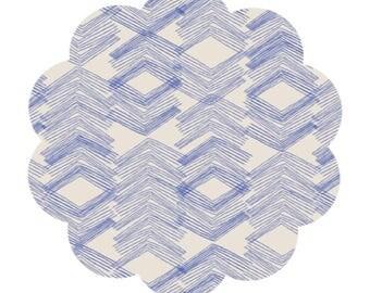 Limestone feel indigo print cotton fabric supply. Morning walk collection. Modern pront cotton. Quilting/apparel cotton fabric supply.