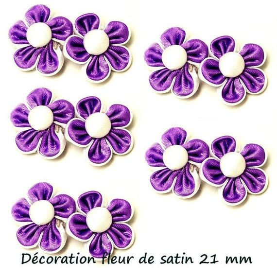1 Double fleur cousue main 21 mm
