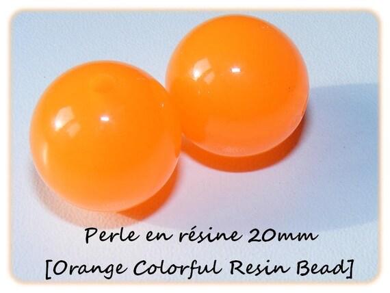 Pearl resin bright 20mm x 1 [Orange Colorful]