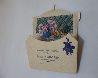 Vintage French Publicity Letter Holder, Epicerie Bar tabacs Advertising Gift, Wall Hanging 1117035-468
