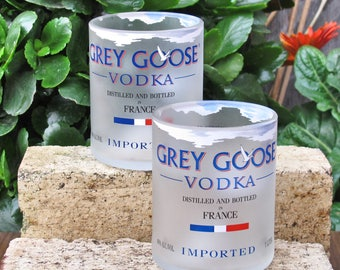 valentines gift vodka gift exchange grey goose vodka recycled bottles glasses set for drinking buddies awesome manly gift vodka themed gift