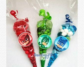 Pj masks birthday - Pj masks party favors - Pj masks goodie bags - Pj masks candy cones - Pj masks goody bags - Pj masks party - Pj masks